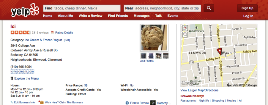 Ici-Yelp-Review