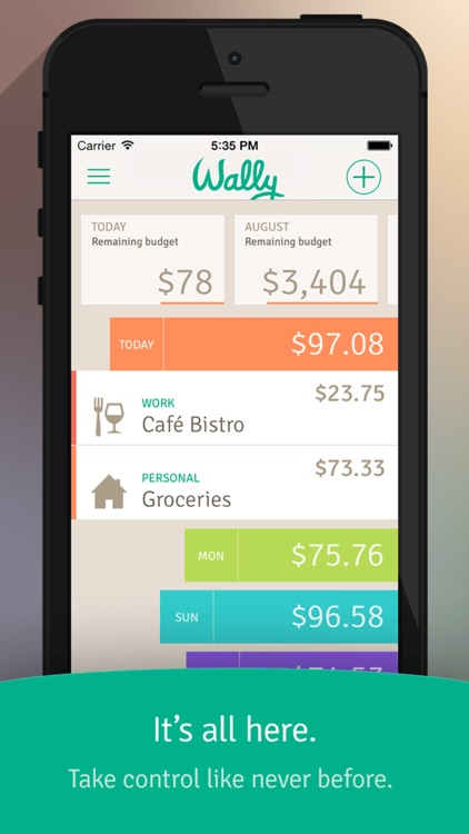 Wally Expense Tracking Mobile App
