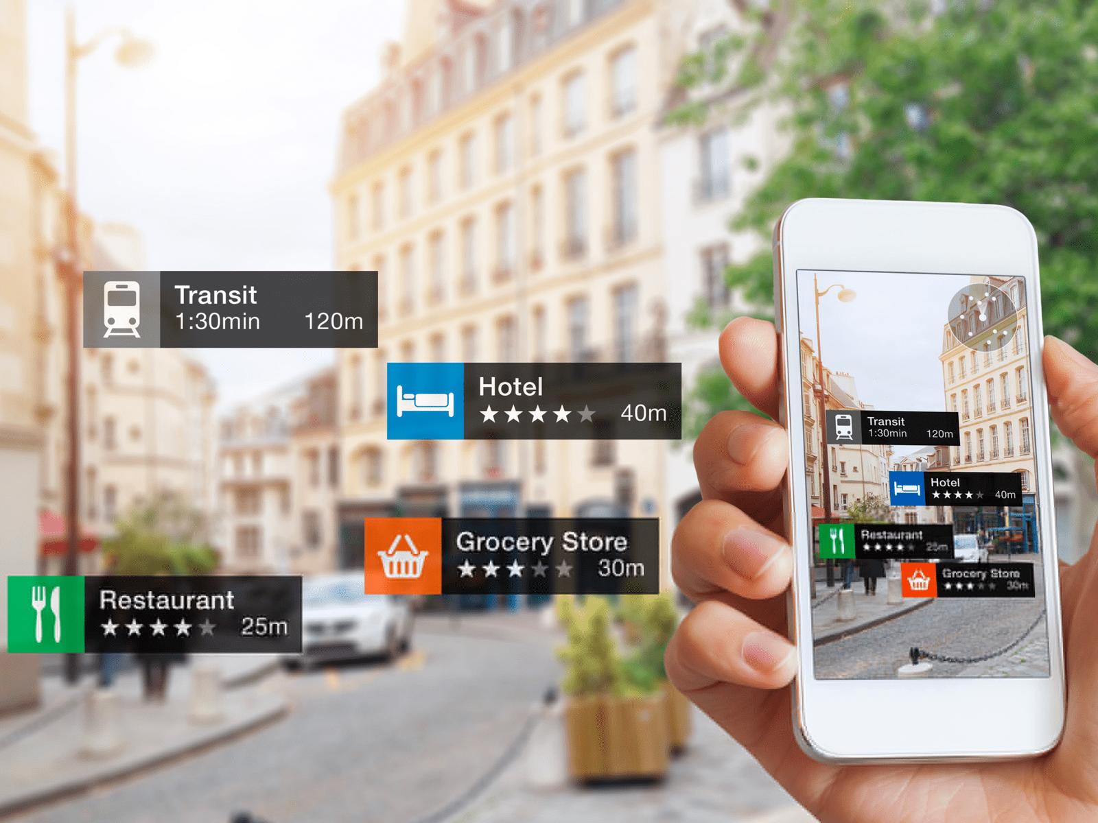 AR technology in Mobile App Design